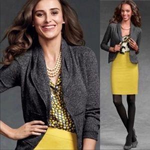 Cabi Fleck Gray Cardigan Jacket Blazer Gray Size M